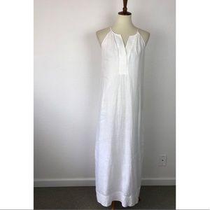 J. Crew Maxi Linen Lined Tank Dress